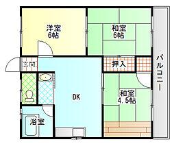 コーポ井出[2階]の間取り