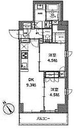 レジディア白金高輪II[4階]の間取り