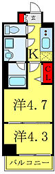 都営三田線 西巣鴨駅 徒歩7分の賃貸マンション 5階2Kの間取り