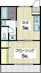 手塚コーポ1[2階]の間取り