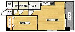 第3中田ビル[501号室]の間取り