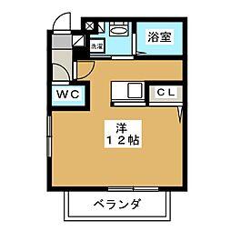 ジェンティーレ[2階]の間取り