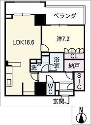 ジョイフル岐阜駅 カーサ・イースト[21階]の間取り