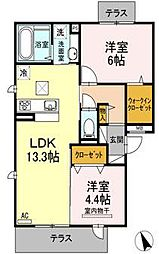 D-room若久[3階]の間取り