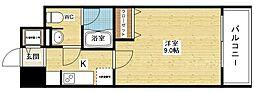 プラウドフラット新大阪[14階]の間取り