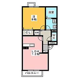 フローラM II[3階]の間取り