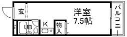 兵庫県宝塚市売布3丁目の賃貸アパートの間取り