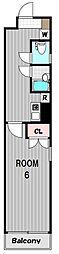 インベスト川崎[4階]の間取り