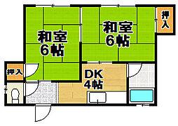 山本マンション[2階]の間取り