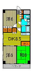 ひまわりマンション[3階]の間取り