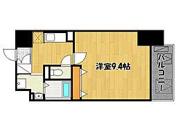 JR山陽本線 明石駅 徒歩13分の賃貸マンション 1階1Kの間取り