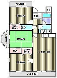 メゾンアザレア[4階]の間取り