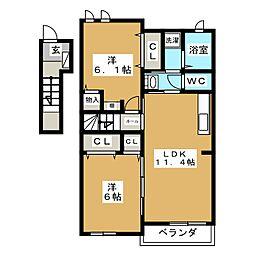 ベスト ナウ ハウス A[2階]の間取り
