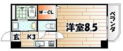 ホワイトバレー八幡駅前[1階]の間取り