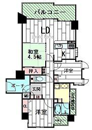 セントラル江坂広芝町[7階]の間取り