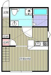プリマ麗賓館[1階]の間取り
