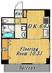 リヴェールナガイ[2階]の間取り