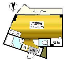 神奈川県横浜市神奈川区松本町4丁目の賃貸マンションの間取り