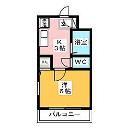 ロジュマンMK[4階]の間取り