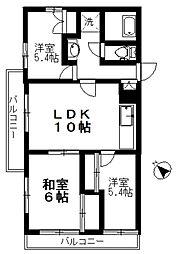 Mエトワールライム館[5階]の間取り
