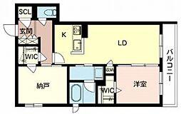 住道矢田1丁目計画 3階1SLDKの間取り