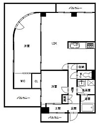 ユートピアマンション[5階]の間取り