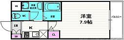 仮称)開田三丁目新築マンション 3階1Kの間取り