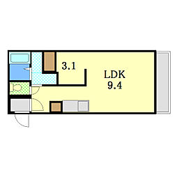 Roxana Residence[401号室]の間取り