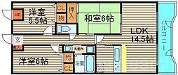 エクセル新金岡[4階]の間取り
