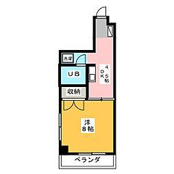 サンダンケ[4階]の間取り