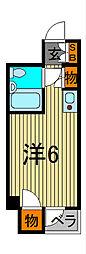 キャッスルマンション西川口[202号室]の間取り