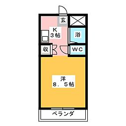 サンライト津島I号館[4階]の間取り