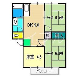 ハイツアネックス D[2階]の間取り