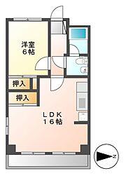 マンション中村[4階]の間取り