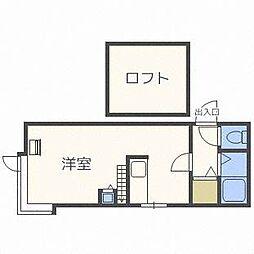 サンコート新札幌[2階]の間取り