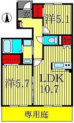 アローキャニオン エコ I[1階]の間取り