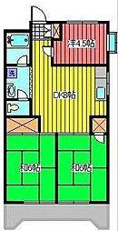 ルミナール和希[4階]の間取り