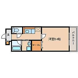兵庫県尼崎市昭和通8丁目の賃貸マンションの間取り