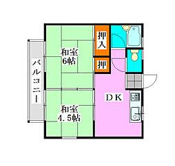 宮本パレスマンション[203号室]の間取り