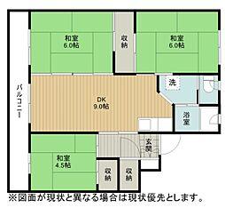 ビレッジハウス江別1号棟[4階]の間取り