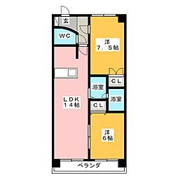 シャトレウィング[2階]の間取り