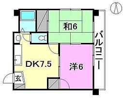 サントハウス2[402 号室号室]の間取り