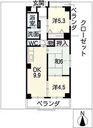 リバーパーク小田井[5階]の間取り