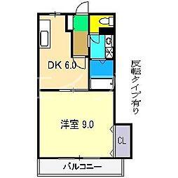 パールハイツ(役知町)[3階]の間取り