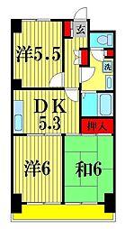 グランピニエール松戸[4階]の間取り