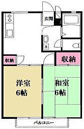ハイツ柿木[203号室]の間取り