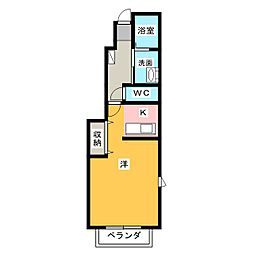 オアシスD[1階]の間取り