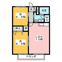 プレミール2000 C棟[2階]の間取り