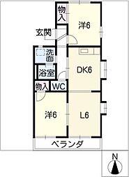 尾崎山ハウスD棟[1階]の間取り