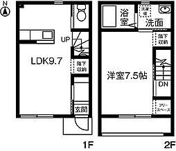 [テラスハウス] 神奈川県厚木市三田南2丁目 の賃貸【/】の間取り